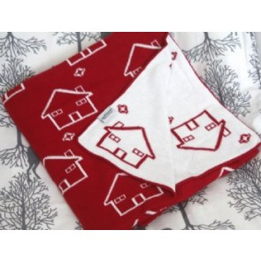 Little House 100% Cotton Pram/Bassinet Blanket by Jacob & Bonomi