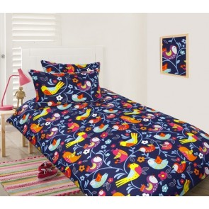 Bright Birds Double Quilt Cover Set by Happy Kids