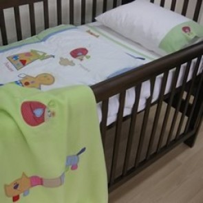 Gingerbread Man Cot Sheet Set by Happy Kids