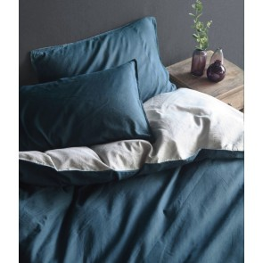 Hue Navy Quilt Cover Set by MM Linen