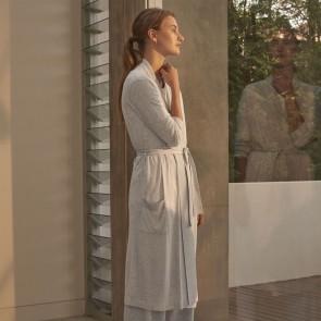 Grey Imogen Womens Knit Robe by Sheridan
