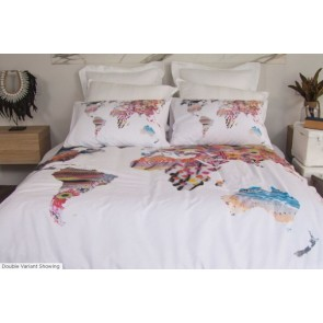 World Single Quilt Cover Set by Retro Home
