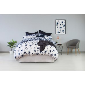 250TC Cotton Inca Blue Reversible Quilt Cover Set by Ardor