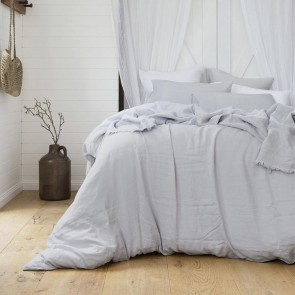 Ivory French Linen Quilt Cover Set by Bambury