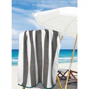 Jacquard Egyptian Cotton Multi-Stripe Beach Towel