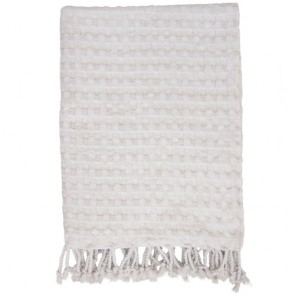 Cotton Waffle Natural Throw - Jamie Durie By Ardor Home