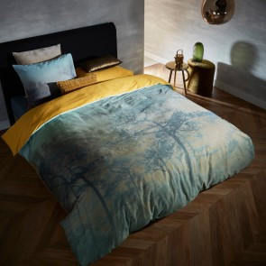 Shadowland Blue Green Cotton Sateen Quilt Cover Set by Bedding House