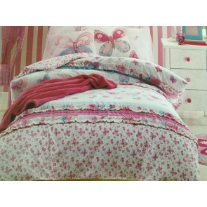 Katie Butterfly Double Quilt Cover Set by Jiggle and Giggle