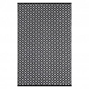Black Kimberley Diamond Plastic Outdoor Rug by FAB Rugs