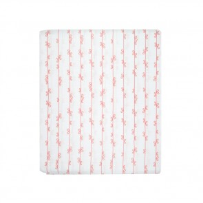 Knotty Stripe Pink Fitted Cot Sheet by Scout