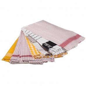 Egyptian Cotton Tea Towels - 12 Pack by Bambury