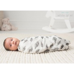 Label Foragers Leaves Silky Soft Bamboo Swaddle Single by Aden and Anais