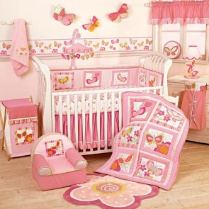 Bright Butterfly Baby Bedding Set by Lambs & Ivy