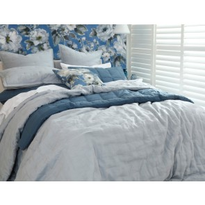 LAUNDERED LINEN Bedspread Set Pewter