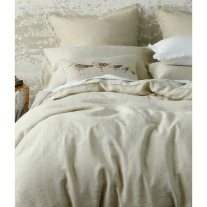 Laundered Linen Natural Super King Quilt Cover Set by MM Linen
