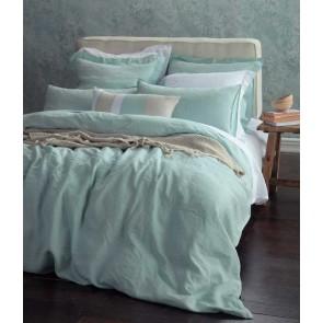 Laundered Linen Duckegg Quilt Cover Set by MM Linen
