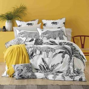 Leopard Grey Super King Quilt Cover Set