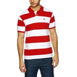 Levi's Paola Stripe Portsmouth Red Polo Shirt