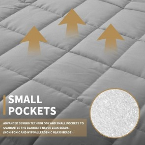 Light Grey Weighted Blanket Full Queen Microfibre Cover Heavy Blanket