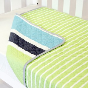 Cot Quilt Coverlet Summer Stripe by Babyhood