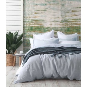 Laundered Linen Chambray King Quilt Cover Set by MM Linen