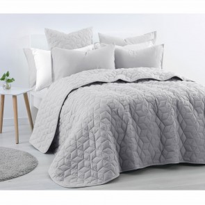 Linen Cotton Queen Coverlet Dove Grey by Accessorize