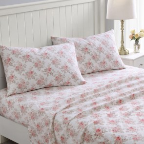 Lisalee Flannelette Sheet Set in Soft Pink by Laura Ashley