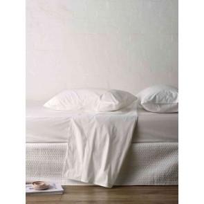 LM Home Studio Queen 100% Cotton Sateen Flat Sheet cs