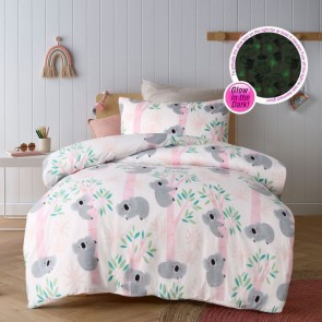 Lovely Koalas Glow In The Dark Quilt Cover Set by Happy Kids