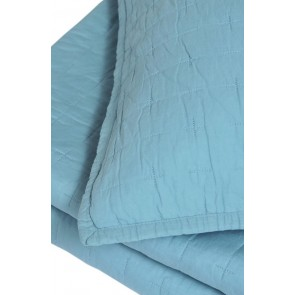 Luca Blue Large Cotton Comforter Set by MM Linen cs