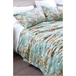 Lumiere Pale Aqua Pillowcase Pair by Bianca Lorenne cs
