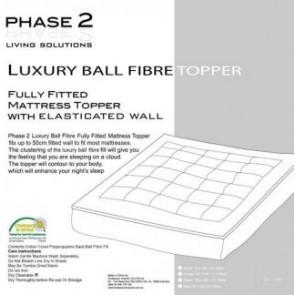 Luxury Ball Fiber Mattress Topper by Phase 2