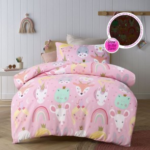 Magical Friends Glow In The Dark Quilt Cover Set by Happy Kids