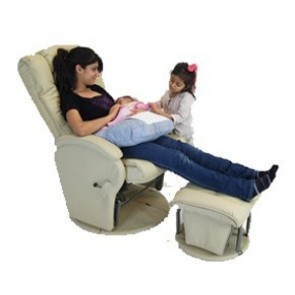 Manhattan Glider Feeding Chair & Ottoman by Babyhood