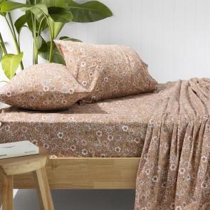 Marguerite Bisque Flannelette Sheet Set by Bambury