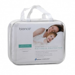 Velour Touch Deluxe Waterproof Mattress Protector by Bianca