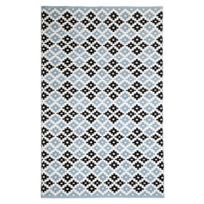 Megh Blue Cotton Rug by FAB Rugs