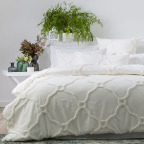 Dove 100% Cotton Moroccan Chenille Vintage Washed Tufted Quilt Cover Sets by Renee Taylor