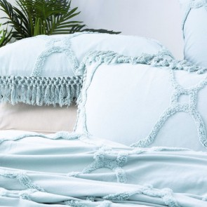 Mineral Medallion 100 % cotton Vintage washed Tuffted Bed Cover set by Park Avenue