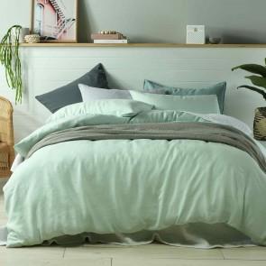 Mist 100% Linen Quilt Cover Set