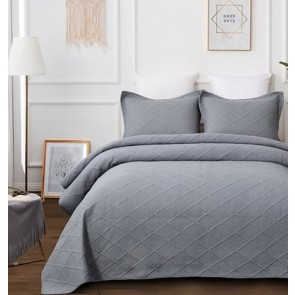 Misty Grey Bedspread by Classic Quilts