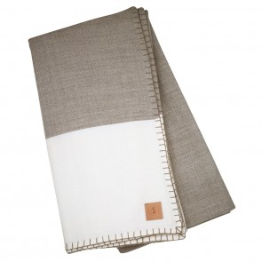 Modern Border Walnut White Blanket by Scout