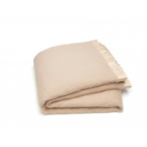 Ivory Mohair Blanket Set by St Albans