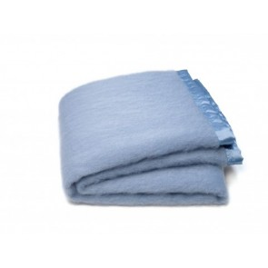 Light Blue Mohair Blanket Set by St Albans