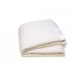 White Mohair Blanket Set by St Albans