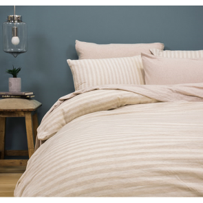Bed T Natural Queen Quilt Cover Set by Bambury