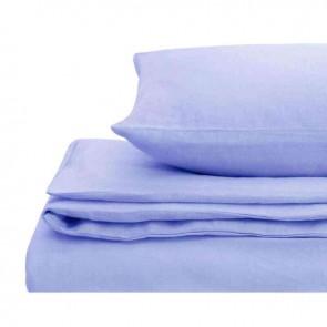 Blue Natural Home 100% European Flax Linen Quilt Cover Set