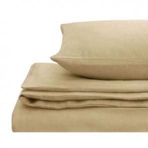 Hazelnut Natural Home 100% European Flax Linen Quilt Cover Set