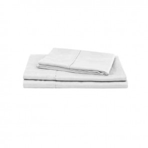 White Natural Home 100% Tencel Sheet Set