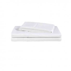 White Natural Home 500TC Organic Cotton Sheet Set